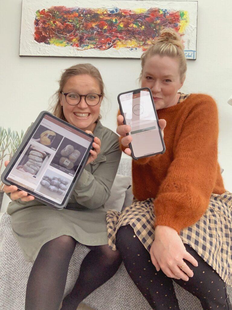 Mette Lundstad og Anne Bagger holder deres app